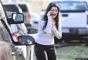 Panicked phone calls in the aftermath of the Sandy Hook massacre.
