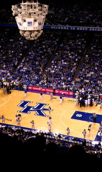 The Holy Land of Big Blue Nation that is Rupp Arena.