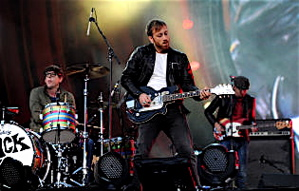 The Black Keys: Dan Auerbach on guitar and Patrick Carney on drums.