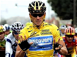 Lance Armstrong after winning his record seventh Tour de France.