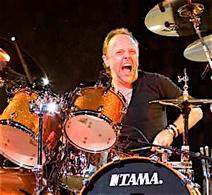 Drummer Lars Ulrich.