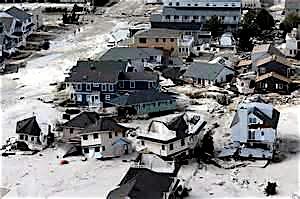 Coastal damage from Superstorm Sandy.