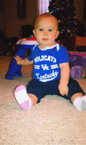Isabella sporting her blue and white for the UK/U of L game on Dec. 29.