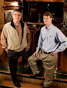 On the left is Chairman Emeritus Bill Samuels Jr., and right is his son, Chief Operating Officer Rob Samuels.