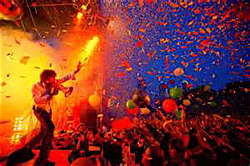 Prepare for the confetti onslaught, megaphones and all manner of strangeness with the Flaming Lips.