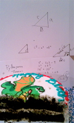 You know it wasn't a Wilson party when for after-birthday fun Geometry problems were part of the festivities.
