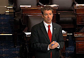 Tea Party loyalist Sen. Rand Paul (R-Ky.), during his filibuster.