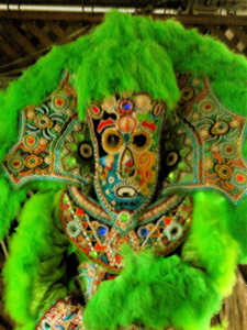 A Mardi Gras Indian costume.