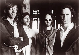 The Doors from L to R: Ray Manzarek, John Densmore, Robby Krieger and Jim Morrison.