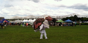 The birdman travels his or her own path at Forecastle.
