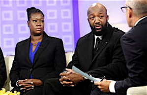 Trayvon Martin's parents, Sybrina Fulton and Tracy Martin appear on the Today Show with host Matt Lauer.