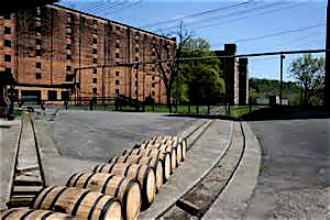 Barrels waiting their turn at the Buffalo Trace Distillery, which was named a national historical landmark in 2013 by National Park Service.