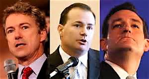From left: Sen. Paul, Sen. Mike Lee (R-UT), and Sen. Ted Cruz (R-TX).