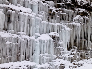 The ice formations along Devils Hollow Road in Frankfort, KY.