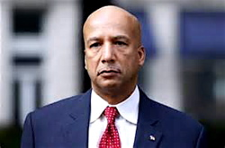 Former New Orleans Mayor Ray Nagin, showing less swagger after being convicted of corruption charges.
