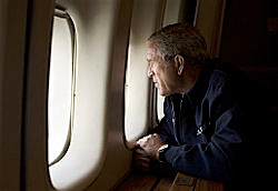 This picture is priceless. It essentially cost Bush his presidency because it provided the visual that crystallized what already was the growing perception, that he was a hollow executive asleep at the switch.