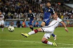 Super Mario shoots the World Cup winner.