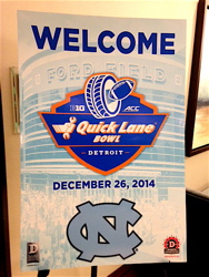 Players and fans filled the Westin, as it was headquarters for the North Carolina Tarheels, in their bowl game against Rutgers.