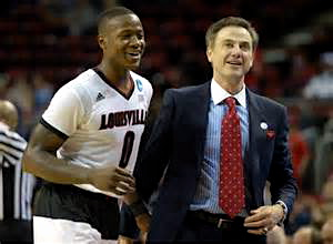Terry Rozier's 25 points made Coach Pitino smile as Louisville defeated UNI 66-53.