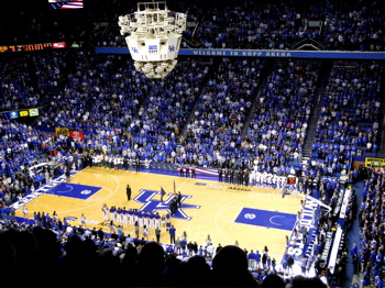 Rupp Arena in Lexington.