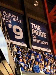 The pride is strong in the rafters of Rupp Arena.