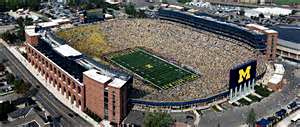 "University of Michigan Stadium, or ""The Big House,"" in Ann Arbor."