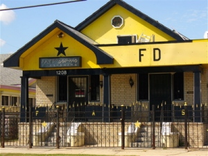 The home of Fats Domino, located in the Lower 9, and where the rock-n-roll icon was trapped in a flooded attic in 90+ degree heat until being rescued after the storm.