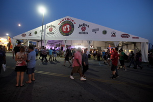 The Bourbon, Bites & Brews tent by Six Row Events at the KY State Fair.