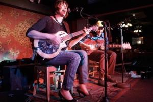 Joe & Vicki Price jamming at the Mill in Iowa City. | Photo by Julie Staub