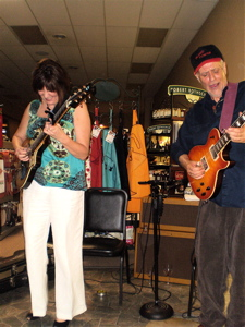 Joe and Vicki Price at Bloomer's on Central.